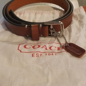 NWOT Genuine leather Coach belt!